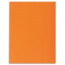 Chemise 1 rabat Exacompta Super 250 - carte 210 g - 24 x 32 cm - orange - paquet de 50 (photo)