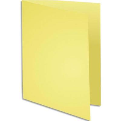 Chemise Exacompta Super 250 - carte 210 g - jaune canari - 24 x 32 cm - paquet de 100