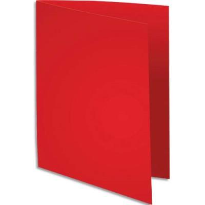 Chemise Exacompta Super 250 - carte 210 g - rouge - 24 x 32 cm - paquet de 100