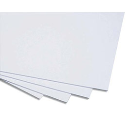 Cartons gris recyclé Clairefontaine - 2 faces - 60 x 80 cm - extra fort 1625 g -  épaisseur 2,5 mm (photo)