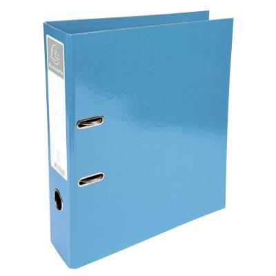 Classeur à levier Exacompta Iderama - en carton pelliculé - dos 7 cm - A4+ - turquoise