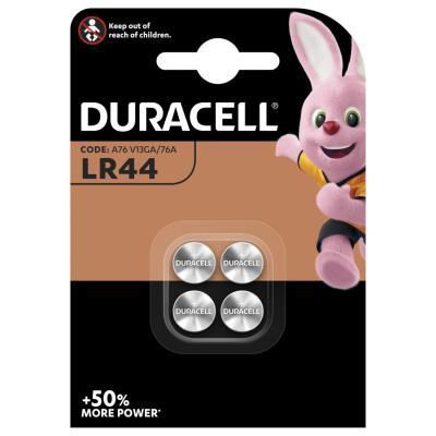 Pile bouton LR44 / A76 Duracell - lot de 4