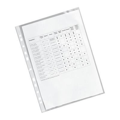 Pochettes perforées A4 polypropylène lisse 6/100 insertion par le côté - boîte de 25