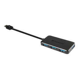 Transcend HUB2 - Concentrateur (hub) - 4 x SuperSpeed USB 3.0 - de bureau