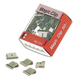 Boîte de 50 pinces clips en acier nickelé - 4 mm (photo)