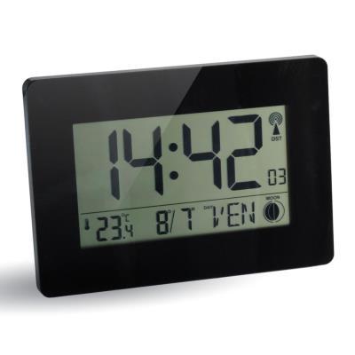 Horloge digitale radio-pilotée - noir (photo)