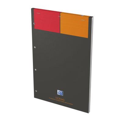 Bloc Notepad - 80 g - quadrillé petits carreaux - 80 feuillets A4 détachables perforés 4 trous - papier blanc (photo)