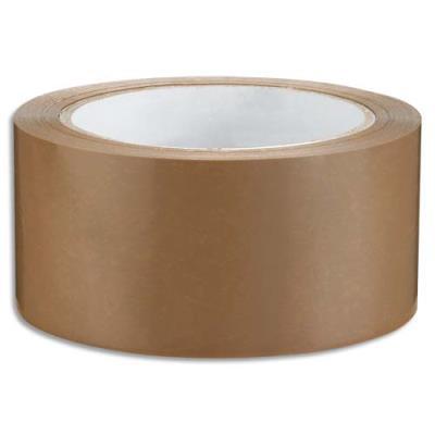 Ruban adhésif d'emballage - silencieux - polypropylène 48 microns - 48 mm x 66m - havane (photo)