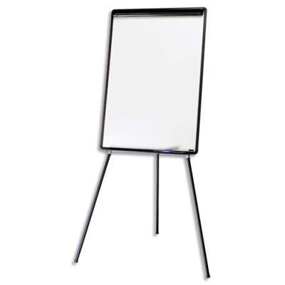 Chevalet de conférence mélaminé cadre PVC Bi-Office - noir - porte-marqueurs + barrete pivotante (photo)