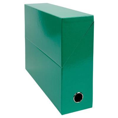 Boîte de transfert Exacompta Iderama - carte lustrée pelliculée - dos 9,5 cm - 34 x 26 cm - vert foncé
