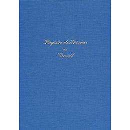 ELVE Registre présence au conseil 21 x 29,7cm, 104 pages, toile bleue (photo)
