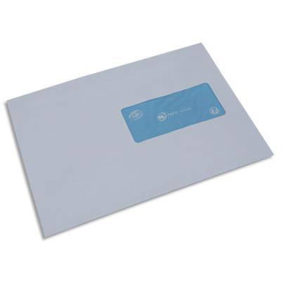 Enveloppes La Couronne à insertion mécanique - vélin blanc - 80 g - format 162x229 mm - fenetre 45x100mm - NF - boîte de 1000 (photo)