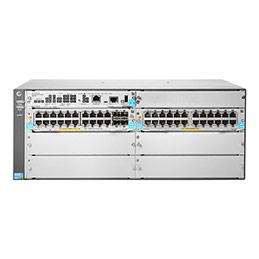 Aruba 5406R 44GT PoE+ / 4SFP+ (No PSU) v3 zl2 - Commutateur - Géré - 44 x 10/100/1000 (PoE+) + 4 x 1 Gigabit / 10 Gigabit SFP+ - Montable sur rack - PoE+ (photo)