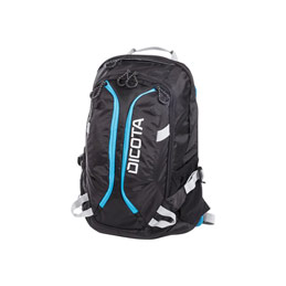 Dicota Active Laptop Bag 15.6' - Sac à dos pour ordinateur portable - 15.6' - noir, bleu (photo)