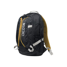 Dicota Active Laptop Bag 15.6' - Sac à dos pour ordinateur portable - 15.6' - noir, jaune (photo)
