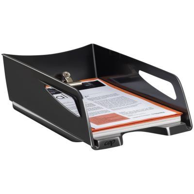 Corbeille à courrier Maxi Cep 220 - hauteur 11cm - pour formats A4 - noir