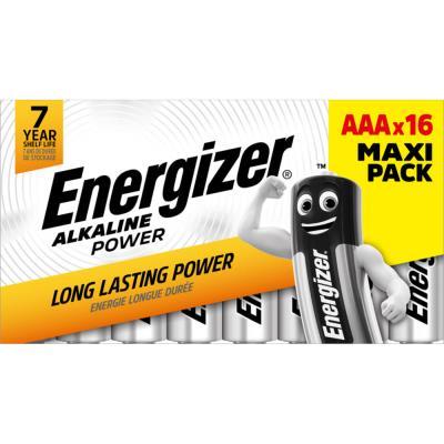 Piles AAA LR03 Energizer Power - blister de 16 piles