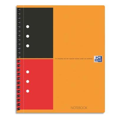 Cahier de bureau Notebook Oxford - A5 - 160 pages perforées - 80 g - ligné 6 mm
