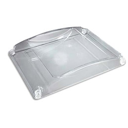 Ramasse-monnaie Standard en plastique - Dimensions : L19,4 x H3 x P18,5 cm coloris transparent (photo)
