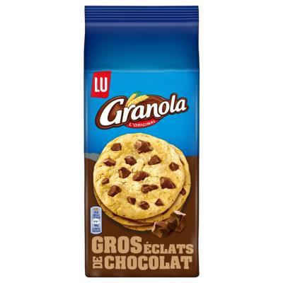 Cookies aux pépites de chocolat Granola - paquet de 184g - carton 10 x 184 grammes