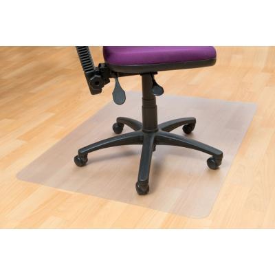 Dessous de chaise - rectangulaire - 900 mm x 1 200 mm - pour sols durs - en PVC 100 % recyclable - transparent (photo)