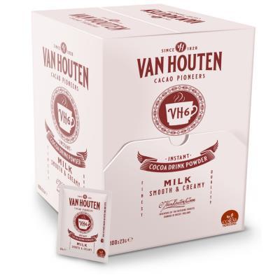 Chocolat chaud en dosette individuelle Van Houten - sachets 23g - boite de 100