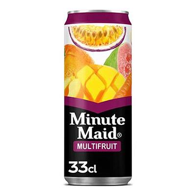 Jus de fruit Minute Maid saveur tropical - canette 33 cl