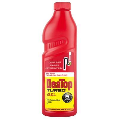 Gel Turbo Destop avec javel - débouche et désinfecte - formule concentrée - 1 litre (photo)