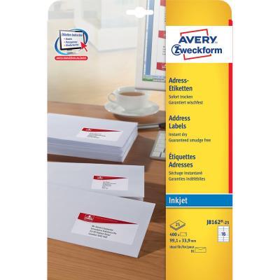 Étiquettes adresses Avery L99,1 x H33,9 mm - paquet 400 unités (photo)