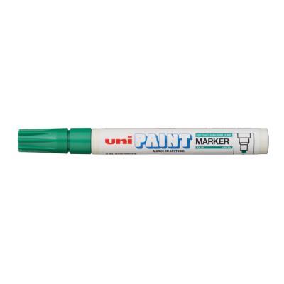 Marqueur peinture Unipaint à base d'huile indélébile - pointe moyenne ogive - corps métal - coloris vert foncé