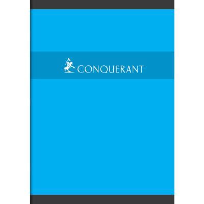 Cahier Conquérant 7- 21 x 29,7 cm -reliure piquée - grands carreaux - 96 pages - 70 g