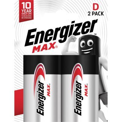 Pile alcaline D / LR20 Energizer Max - lot de 2