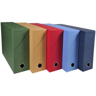 Boîte de transfert Exacompta - en carton rigide recouvert de papier toilé - dos 9 cm - coloris assortis