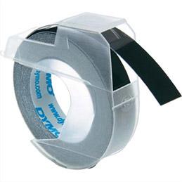 Ruban pour pinceà marquer Dymo - 9 mm x 3 m - blanc sur noir - S0898130 (photo)