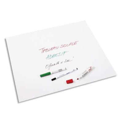 Rouleau adhésif blanc Velleda - 100 x 200 cm - effaçable à sec (photo)