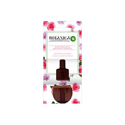 Recharge pour diffuseur électrique Botanica parfum Géranium oriental et rose des îles - flacon 19ml