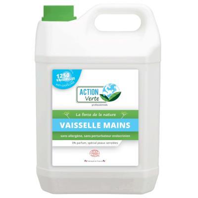 Liquide vaisselle mains écologique - sans parfum - bidon de 5L - bouteille 5 litres (photo)
