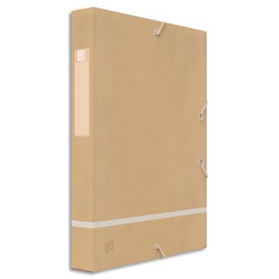 Boîte de classement à élastique Touareg - Dos 3.5 cm - coloris naturel (photo)