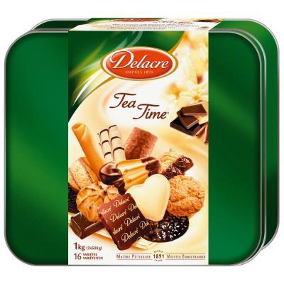 Boite de biscuits Delacre Teatime - boite de 1kg