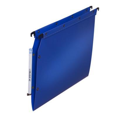 Dossiers suspendus en polypro bleu L'oblique AZ - pour armoire - fond V