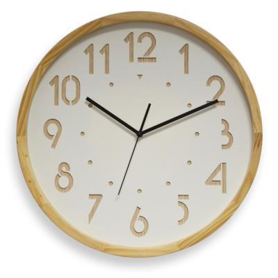 Horloge murale analogique Oslo silence - Ø 41 cm - coloris bois clair (photo)