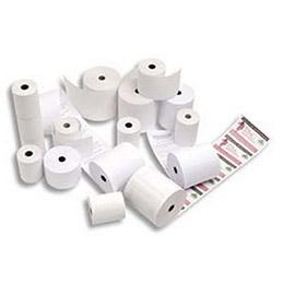 Bobine de papier thermique pour caisse et TPV - format  80 x 80 x 12 mm - 1 pli - longueur 95 m (photo)
