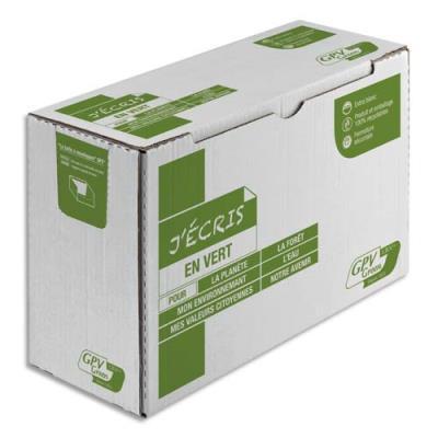 Enveloppes 100% recyclées extra-blanches GPV Erapure - format DL 110 x 220 mm - 80 g - auto-adhésif - boite de 500 (photo)
