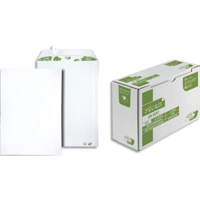 Pochette 100% recyclés 229 x 324 GPV Erapure - blanche - auto-adhésive - 90 g - boite de 250 (photo)