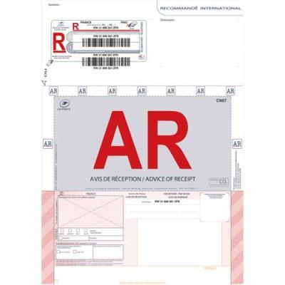 Boite de 250 imprimés recommandés avec AR international A4 IB1 3263 édition imprimantes (photo)