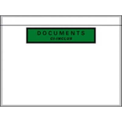 Boîte de 1000 pochettes document ci-inclus recyclées format C6 16,2 x 12 cm PPI1612 (photo)