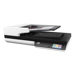 HP Scanjet Pro 4500 fn1 - Scanner de documents - CMOS / CIS - Recto-verso - A4/Letter - 1200 dpi x 1200 dpi - jusqu'à 30 ppm (mono) / jusqu'à 30 ppm (couleur) - Chargeur automatique de documents (50 feuilles) - jusqu'à 4000 pages par jour - USB 3.0, Gigabit LAN, Wi-Fi(n) (photo)