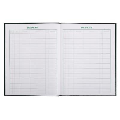 Cahier pour enregistrement du courrier départ - 24x32 cm - 160 pages (photo)