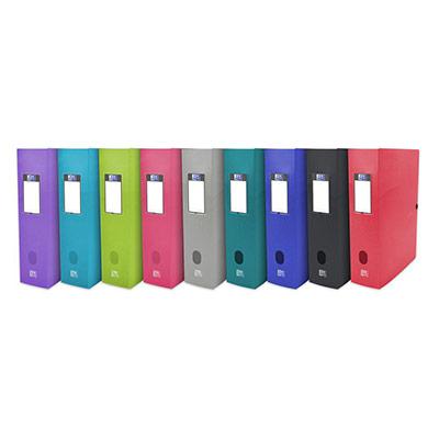 Boîte de classement Oxford Osmose 24X32 - dos de 8 cm en polypropylène coloris assortis opaques/translucides