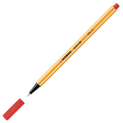 Stylo feutre Stabilo Point 88 rouge, pointe fine 88/40